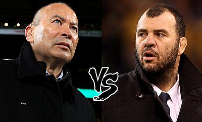 Eddie Jones (left) and Michael Cheika (right) have already spiced up Saturday's clash