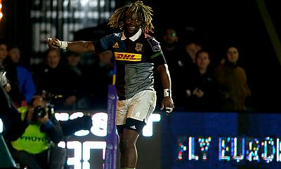 Tries from Mat Luamanu, Marland Yarde, pictured, and James Chisholm were not enough for Harlequins