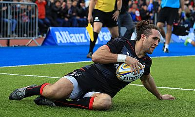 Saracens' Mike Ellery was among the tryscorers for his team in the win at Scarlets.