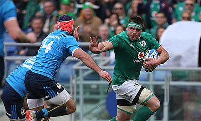 CJ Stander, pictured, and Craig Gilroy both bagged hat-tricks in Ireland's win