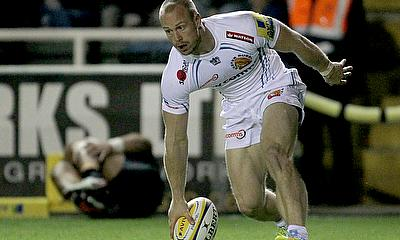James Short crossed over Exeter Chiefs twice