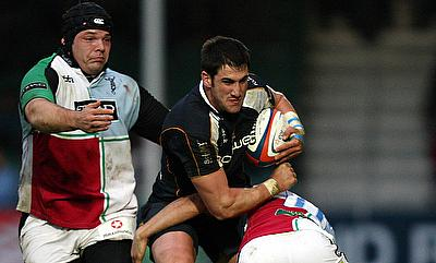 Matt Cox, centre, broke into the Worcester first team in 2008