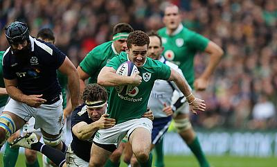 Paddy Jackson, centre, has signed a two-year contract extension at Ulster