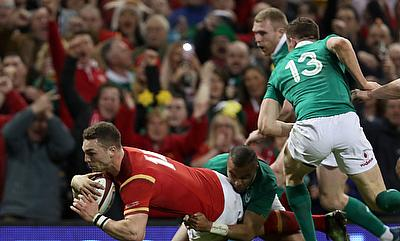 George North bagged a brace of tries