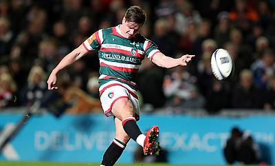 Freddie Burns scored 17 points for Leicester as they beat Saracens