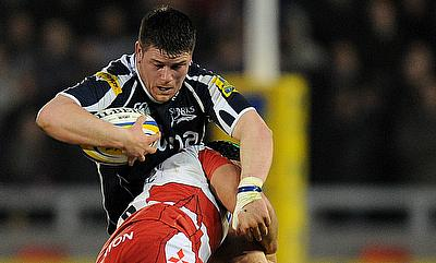 Marc Jones, with ball, will return to Sale Sharks from Bristol this summer