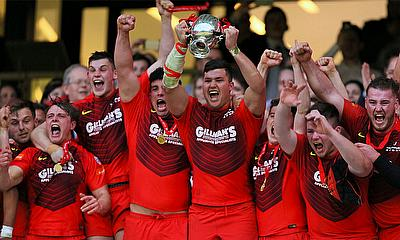 Hartpury College lift the BUCS Rugby Championship trophy 2017
