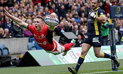 Chris Ashton scores the first try in the European Champions Cup final 2017