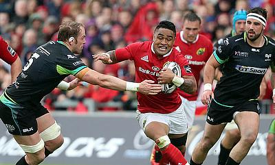 Francis Saili, centre, was outstanding as Munster beat Ospreys to reach the Guinness PRO12 final
