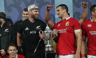 British and Irish Lions captain Sam Warburton, pictured right, has given away his kit