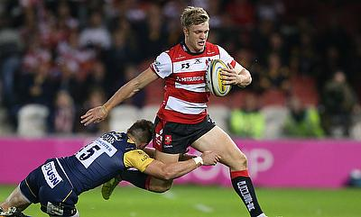 Gloucester's Ollie Thorley, right, scored two tries in the win over Zebre