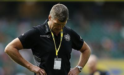 Rob Baxter, pictured, was not pointing the finger at referee Romain Poite after Leinster beat Exeter