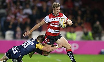 Ollie Thorley crossed four times for Gloucester