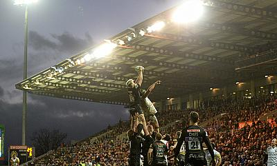 Exeter win a lineout during their win over Leicester