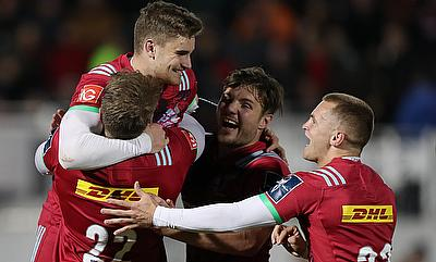 James Lang helped Harlequins to victory