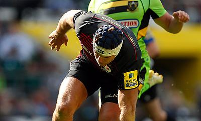 Schalk Brits scored a first half try for Saracens