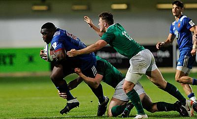 France prop Demba Bamba on the charge against Ireland on day one of the World Rugby U20 Championship 2018