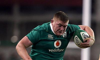 Tadhg Furlong	was one of the try-scorer for Ireland