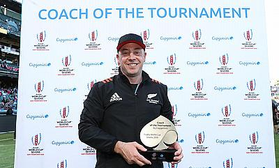 New Zealand coach Clark Laidlaw was named the Capgemini Coach of the Tournament on day three of Rugby World Cup Sevens 2018
