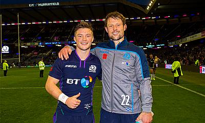 George and Peter Horne at BT Murrayfield