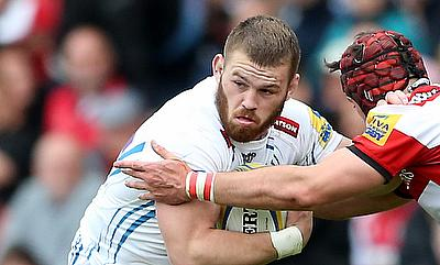 Luke Cowan-Dickie	was one of the try-scorer for Exeter Chiefs