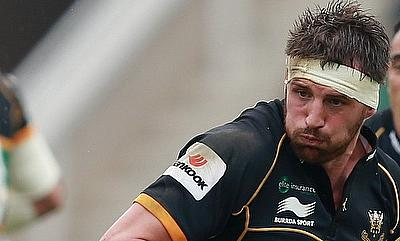 Tom Wood was one of the try-scorer for Northampton Saints