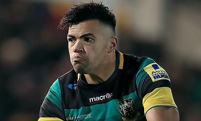 Luther Burrell scored the opening try for Northampton Saints
