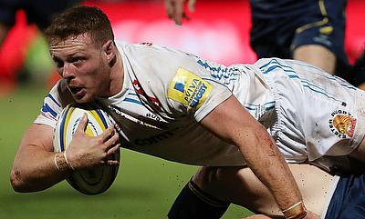 Sam Simmonds is one of the try-scorer for Exeter Chiefs