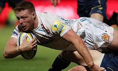 Sam Simmonds scored two tries for Exeter Chiefs