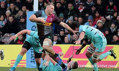 Alex Dombrandt scored the opening try for Harlequins