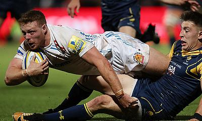 Sam Simmonds scored the opening try for Exeter Chiefs