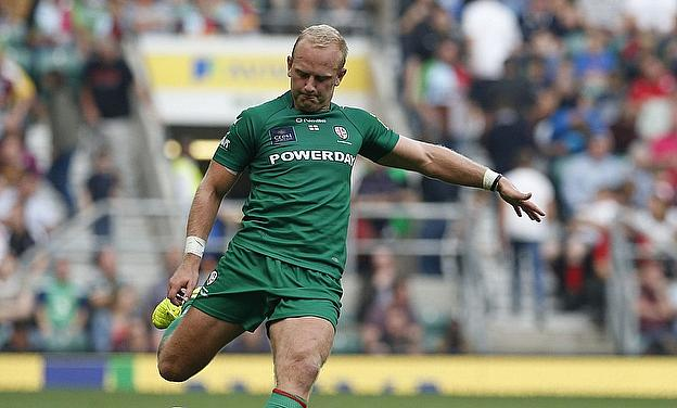 London Irish's Shane Geraghty played at inside centre against Newcastle