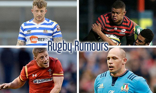 Josh Charnley, Nathan Earle, Sergio Parisse and Rhys Priestland