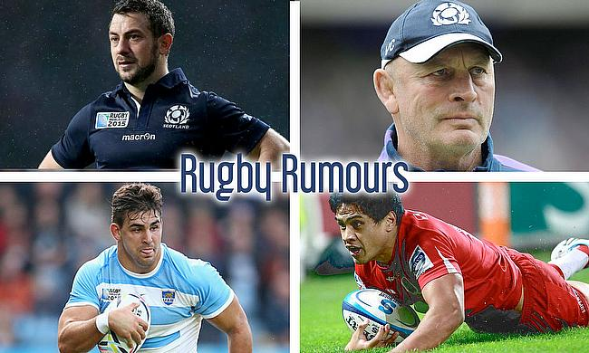 Greig Laidlaw, Vern Cotter, Ben Tapuai and Pablo Matera