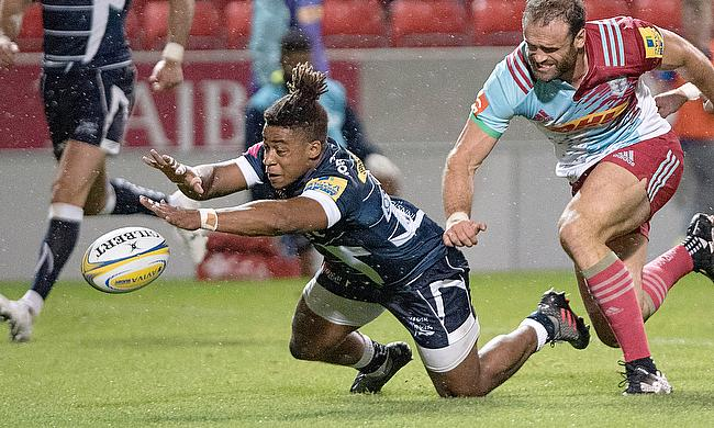 Paolo Odogwu scoring against Harlequins