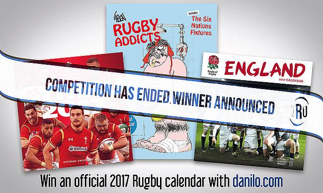Win an Official Rugby Union calendar with Danilo.com