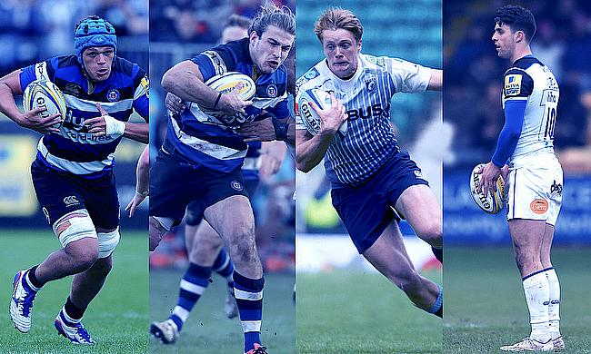 Zach Mercer, Max Clark, Harry Davies and Adam Hastings