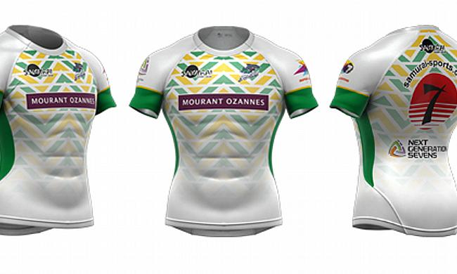 Away jersey of Samurai Barracudas