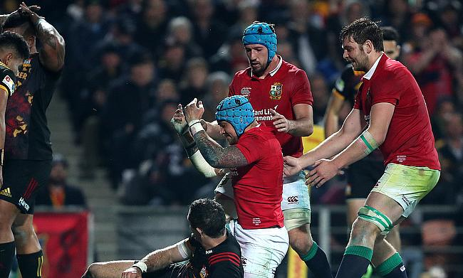 Jack Nowell, centre, shone for the Lions