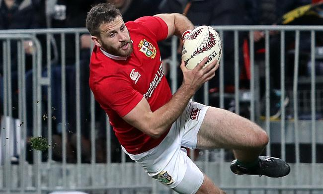 Tommy Seymour scores the Lions' third try