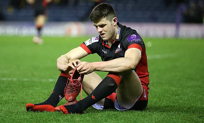 Blair Kinghorn scored Edinburgh's opening try against Dragons
