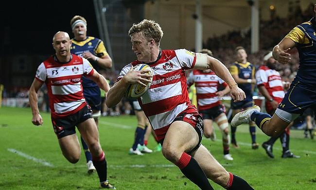 Gloucester's Ollie Thorley went over twice as Worcester lost a fourth game in succession