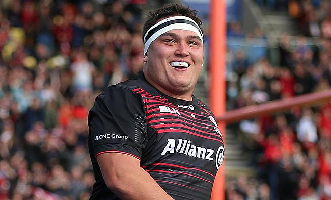 Jamie George scored a hat-trick for Saracens
