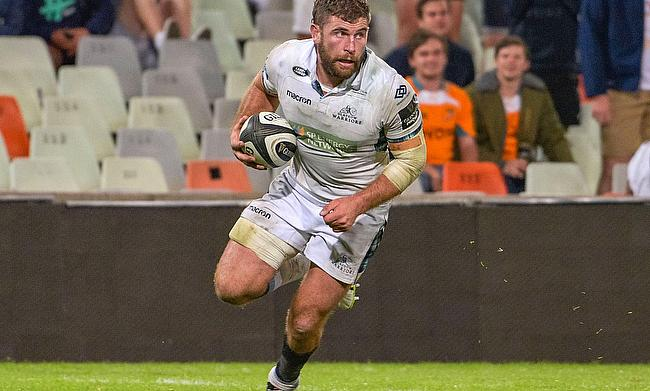 Callum Gibbins dots over for Glasgow Warriors