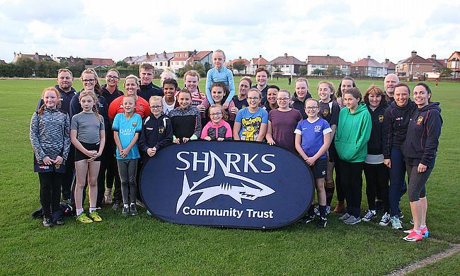 The girls at Oldershaw join Marlie Packer at a special training session