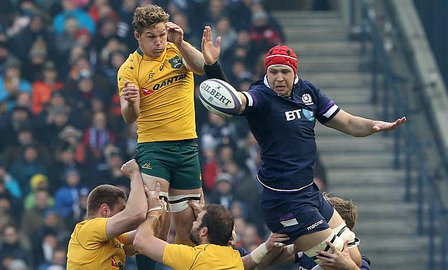 Edinburgh's Grant Gilchrist, right, is on a high after his Scotland exploits