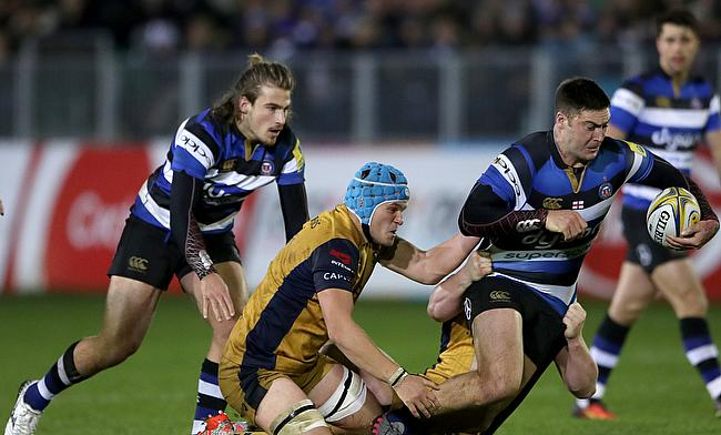 Olly Robinson, in scrum-cap, has signed a long-term contract with Cardiff Blues
