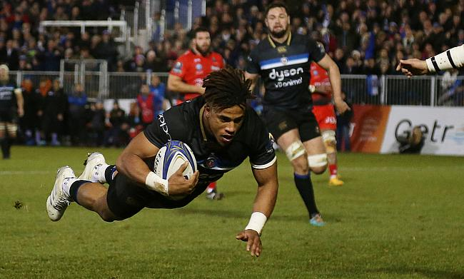 Baths' Anthony Watson scored two tries in the win against Toulon