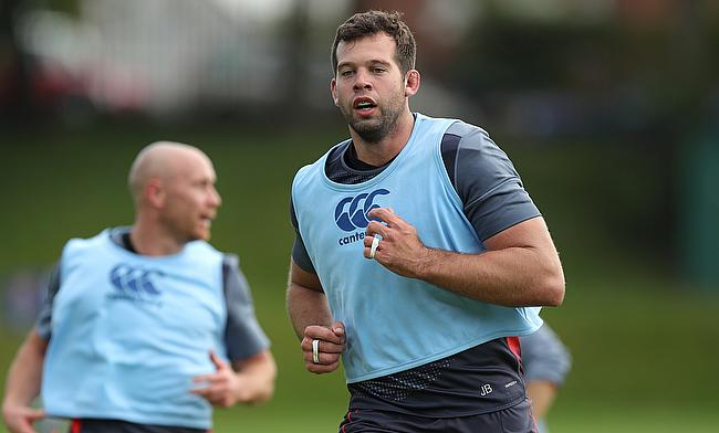 Josh Beaumont (right) was sidelined since October with a torn bicep