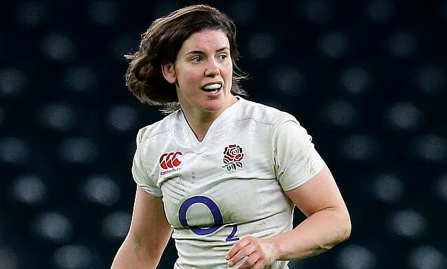 Sarah Hunter scored a hat-trick for England Women